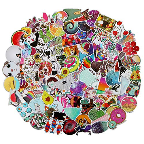 100Pcs Glittering Transparent Gold Rim Stickers for Laptop, Cute,Waterproof,Aesthetic,Trendy Hot Stamping Stickers for Teens,Girls Perfect for Waterbottle,Phone,Travel Extra ()