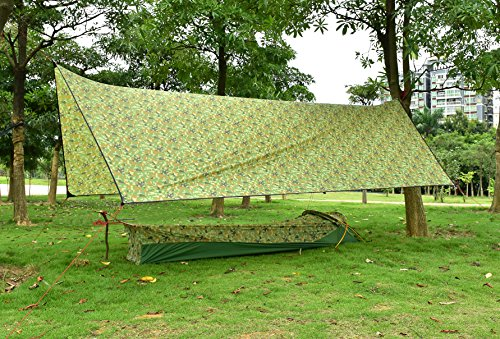 OneTigris Outdoor Hexagonal Camo Sil Tarp Waterproof & Ultralight RipStop Nylon Material 1310ft for Backpacking Hiking Camping (Camo) by OneTigris (Image #7)