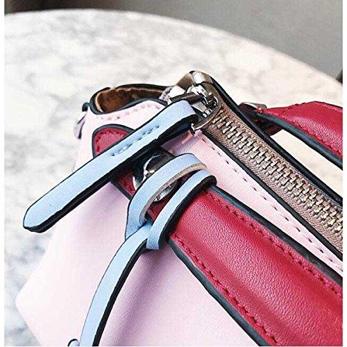 Damenmode Persönlichkeit Umhängetasche Handtasche Messenger Bag,Pink-OneSize