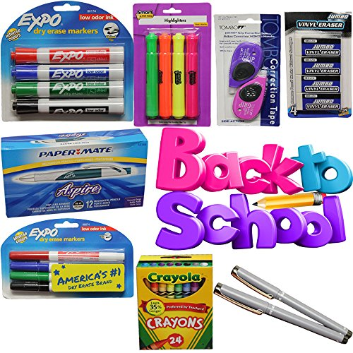 Back To School Bundle Package Tombo Mono Correction ExpoCrayolaBazicPaper Mate