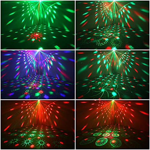 Party Lights + Disco Ball GOOLIGHT Dj Disco Lights LED Stage Light Projector Strobe lights Sound Activated with Remote Control for Xmas Club Bar KTV Holiday Dance Christmas Birthday Home Decoration by GOOLIGHT (Image #2)