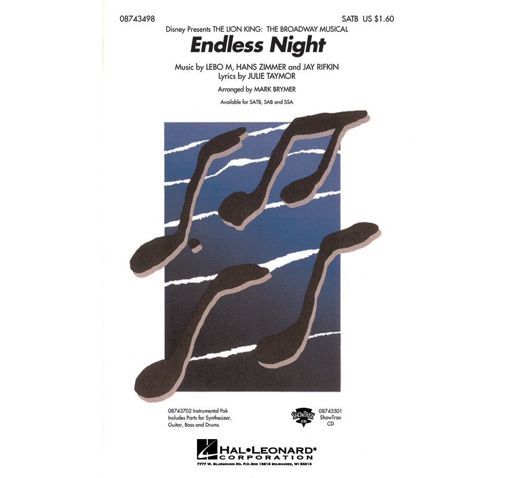Read Online Hal Leonard Endless Night (from The Lion King: Broadway) ShowTrax CD Arranged by Mark Brymer pdf epub