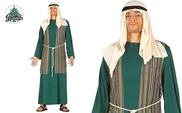 Traje judaeo de pastor verde judío Cuna de la multitud viviente Pasión de Cristo