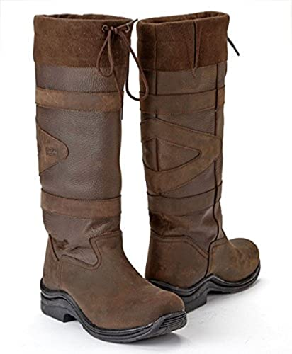 Toggi Canyon waterproof long country boots leather riding Casual B0761Y2D79