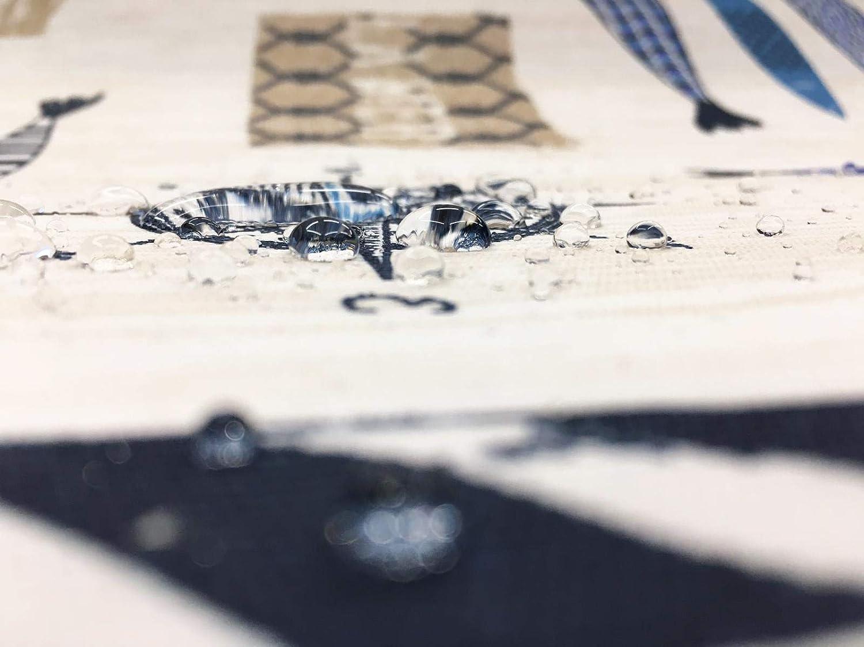 Home Imagine Mantel de Tela Resinada Antimanchas Aquarium 140x200