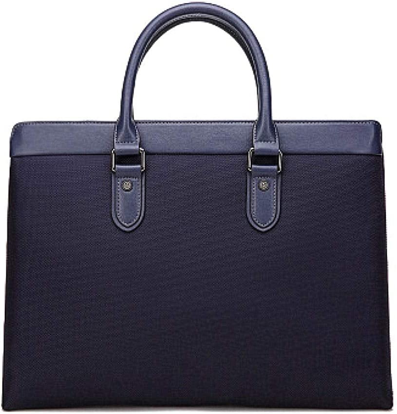 Color : Black, Size : Free Size XUROM Briefcase Bag Briefcase for Men Business Tote 14 Laptop Attache Case Leather Laptop Bag Large Office Work School Bag