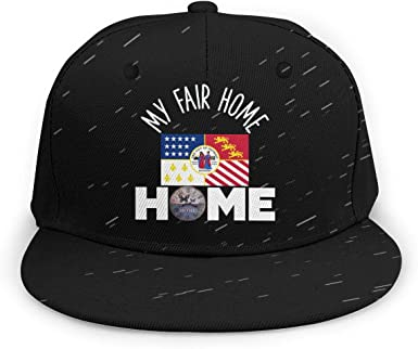 Jzshqakqkns Flag of New Jersey My Fair Home Unisex Fashion Flat Personality Baseball Cap