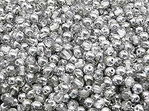 100pcs Checa presionado perlas de cristal redondo 4mm, Crystal Labrador