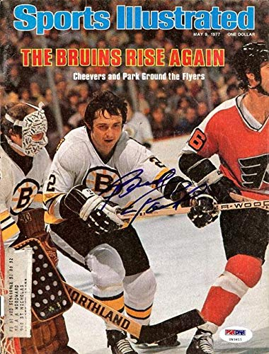Brad Park Autographed Sports Illustrated Magazine Cover Boston Bruins #U93611 PSA/DNA Certified Autographed NHL Magazines