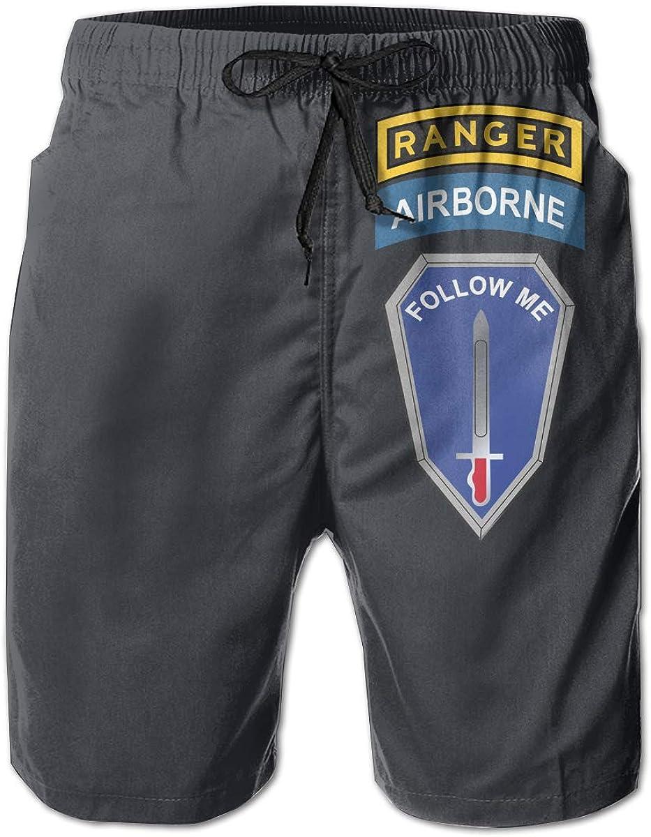 4th Ranger Training Brigade Mens Casual Classic Fit Short Summer Beach Shorts