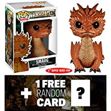 Smaug:! ~ 6 Deluxe Funko POP x The Hobbit - The Battle of The Five Armies Vinyl Figure + 1 FREE Official Hobbit Trading