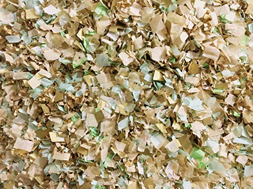 Mint Ivory Gold Biodegradable Confetti Mix Wedding Bridal Shower Party Decorations Bulk Wholesale Throwing Send Off Table Decor InsideMyNest (25 Handfuls) by Inside My Nest