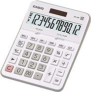 Calculadora de Mesa com Visor de 12 Dígitos, Casio, DX-12B, Branco
