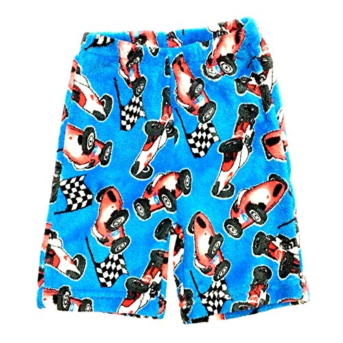 Confetti and Friends Boys Fuzzy Plush Shorts - Race Car - 7/8 (Tall And Short Best Friends)