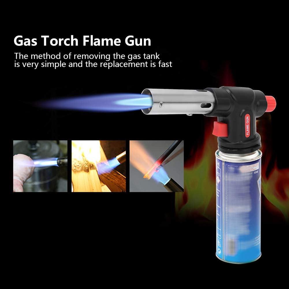 Pistola de Llama Soplete de Gas Pistola de Llama Ajustable Pistola de Soldadura de Encendido Electrónico para Exteriores Cocina Cocina Barbacoa ...