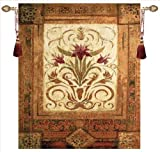 Manual Crimson Blossom Grande Tapestry Wall Hanging, 35 X 41-Inch