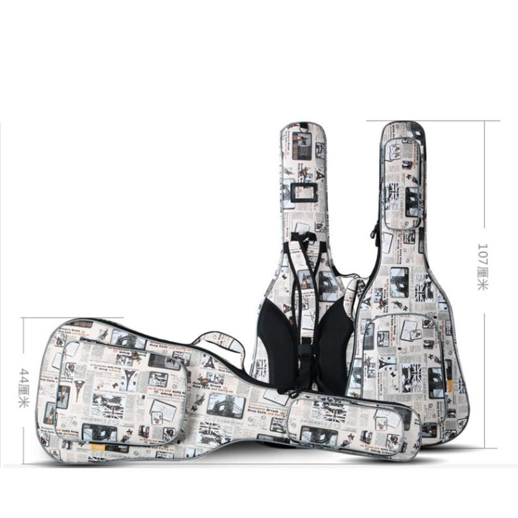 DGRZL Gitarre Tasche Schulter Dicke Gitarre Rucksack