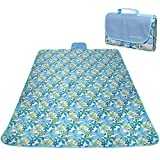 RoryTory Multi-Family Large Flower Print Waterproof Picnic Camp Blanket Mat