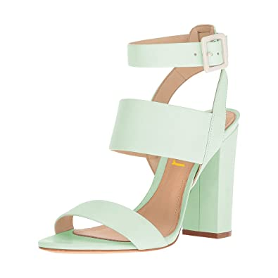ba29c10ca6a FSJ Women Ankle Strap Buckle Sandals Open Toe Slingback colorful Chunky  High Heels Size 4-15 US