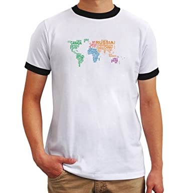 World map word art ringer t shirt amazon clothing world map word art ringer t shirt gumiabroncs Gallery