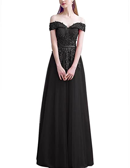 0baf342072 vimans Womens Off Shoulder Long Prom Dresses Wedding Evening Dress Lace  P144 at Amazon Women s Clothing store