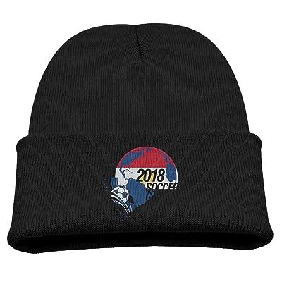 e90db49a99b 2018 Soccer Game Egypt Kid Boy Knit Beanie Ski Hat Winter Warm Wool Skull  Caps