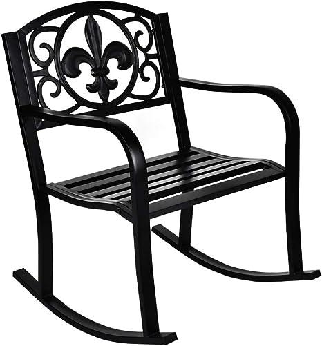 GIODIR Outdoor Patio Rocking Chair
