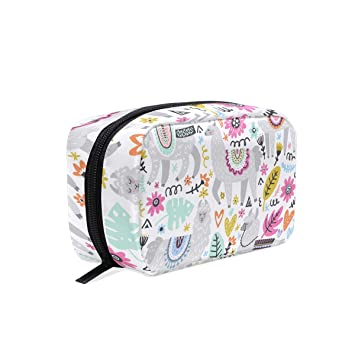 cffde0f5e3270 Amazon.com   Llama Travel Makeup Case Toiletries Bag Portable Beauty Girl Women  Cosmetic Organizer Bags Storage Bags for Travel   Beauty