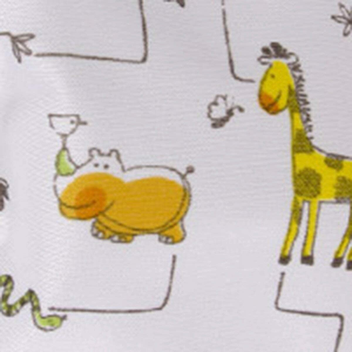 Cobertor de pa/ñal wei/ß//Tiere Talla:S Popolini PopoWrap