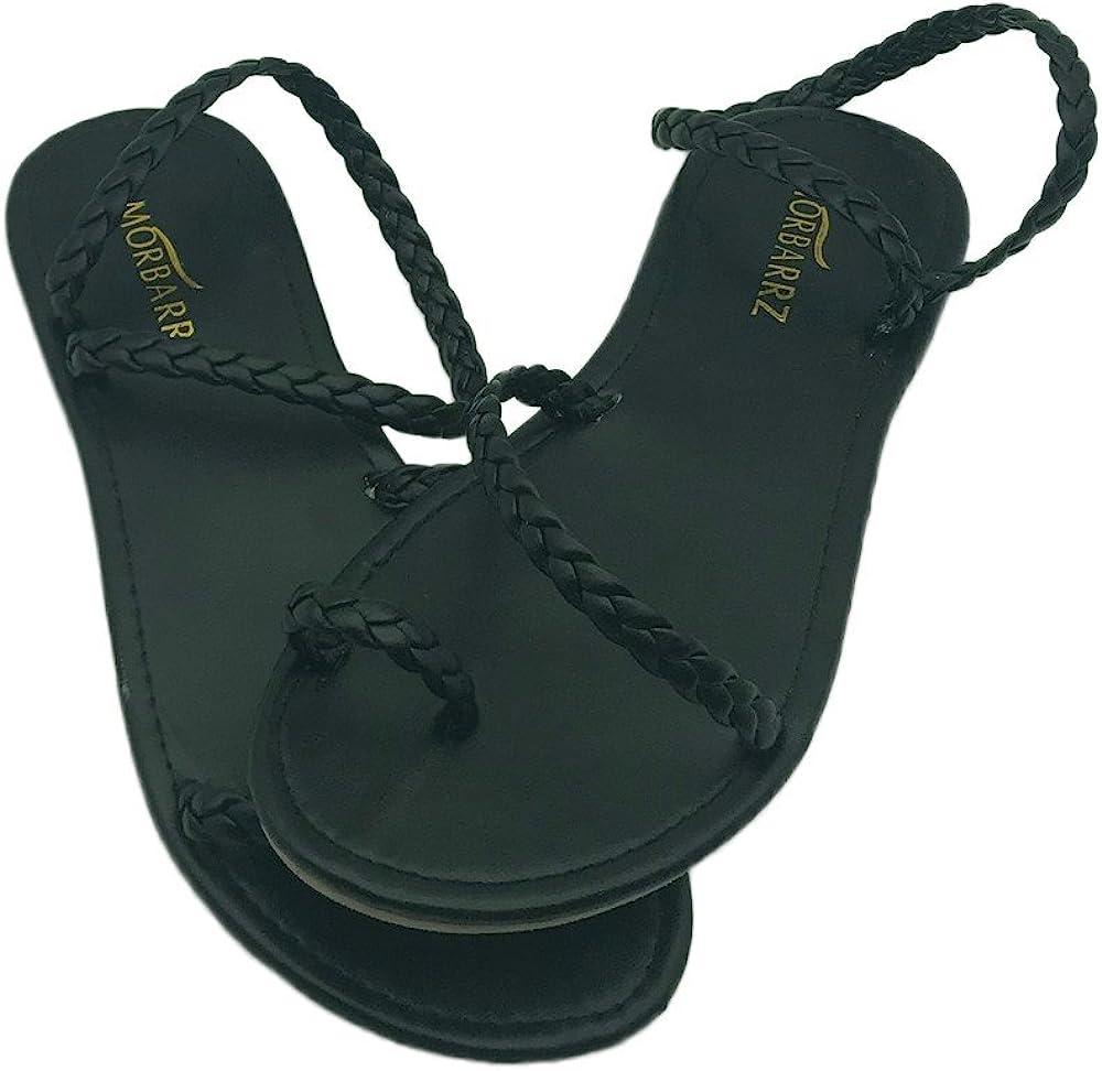 Meilleure Vente!Sandales Dames Women Summer Strappy Gladiator Low Flat Heel Flip Flops Beach Sandals Shoes by LuckyGirls