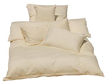 08011eb128 beties Mako Satin Bettbezug 135 x 200 cm (ohne Kissen) in 9 eleganten Uni