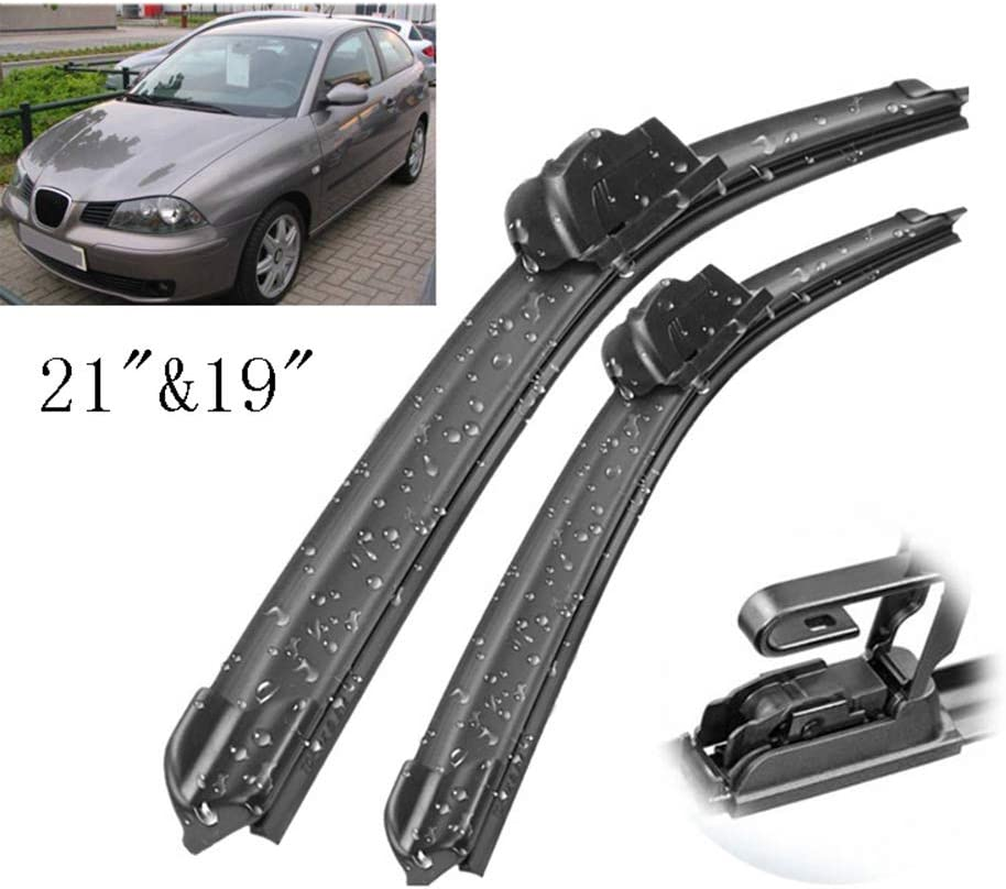 Front and Rear Blades 3 x Blades IBIZA Hatchback Mar 2008 Onwards Windscreen Wiper Blade Set