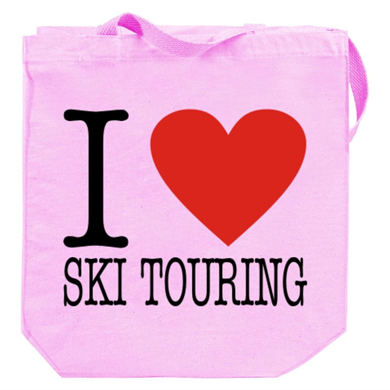 I LOVE Ski Touring CLASSIC Canvas Tote Bag
