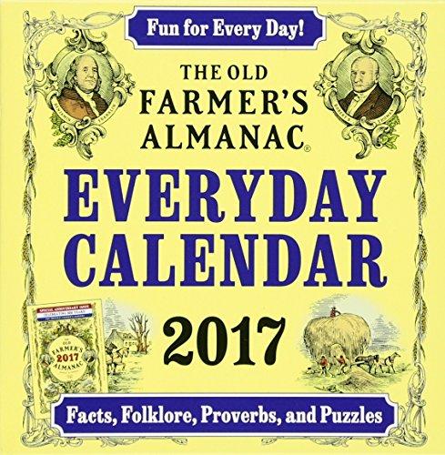 The Old Farmers Almanac 2017 Everyday Calendar