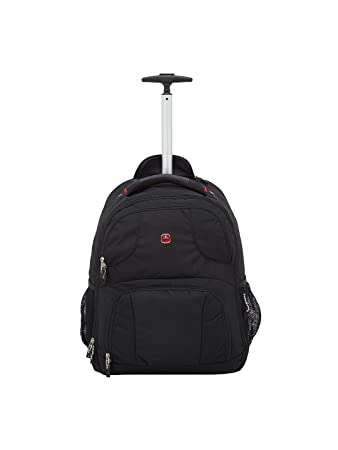 Swiss Gear 18.5 quot  Rolling Computer Backpack 38 L Trolley Laptop  Backpack ... bdf177e8fb162