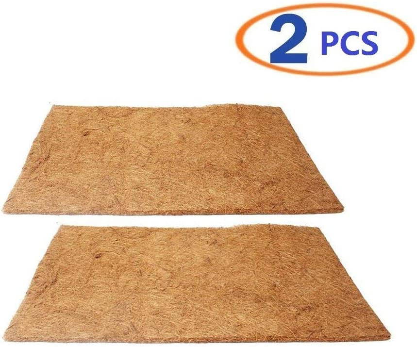 Hamiledyi Reptile Carpet Natural Coconut Fiber Tortoise Carpet Mat for Pet Terrarium Liner Reptile Supplies for Lizard Snake Chamelon Turtle Bedding Bunny Rabbit Mat (2sheets)
