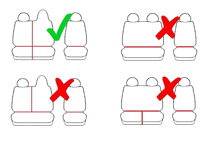 2 3 Places 4D-Z4L-DV-TC3M-11FT-30 Housses de si/ège Parfaitement adapt/ées pour 1 - Mat/ériau sp/écifique du v/éhicule