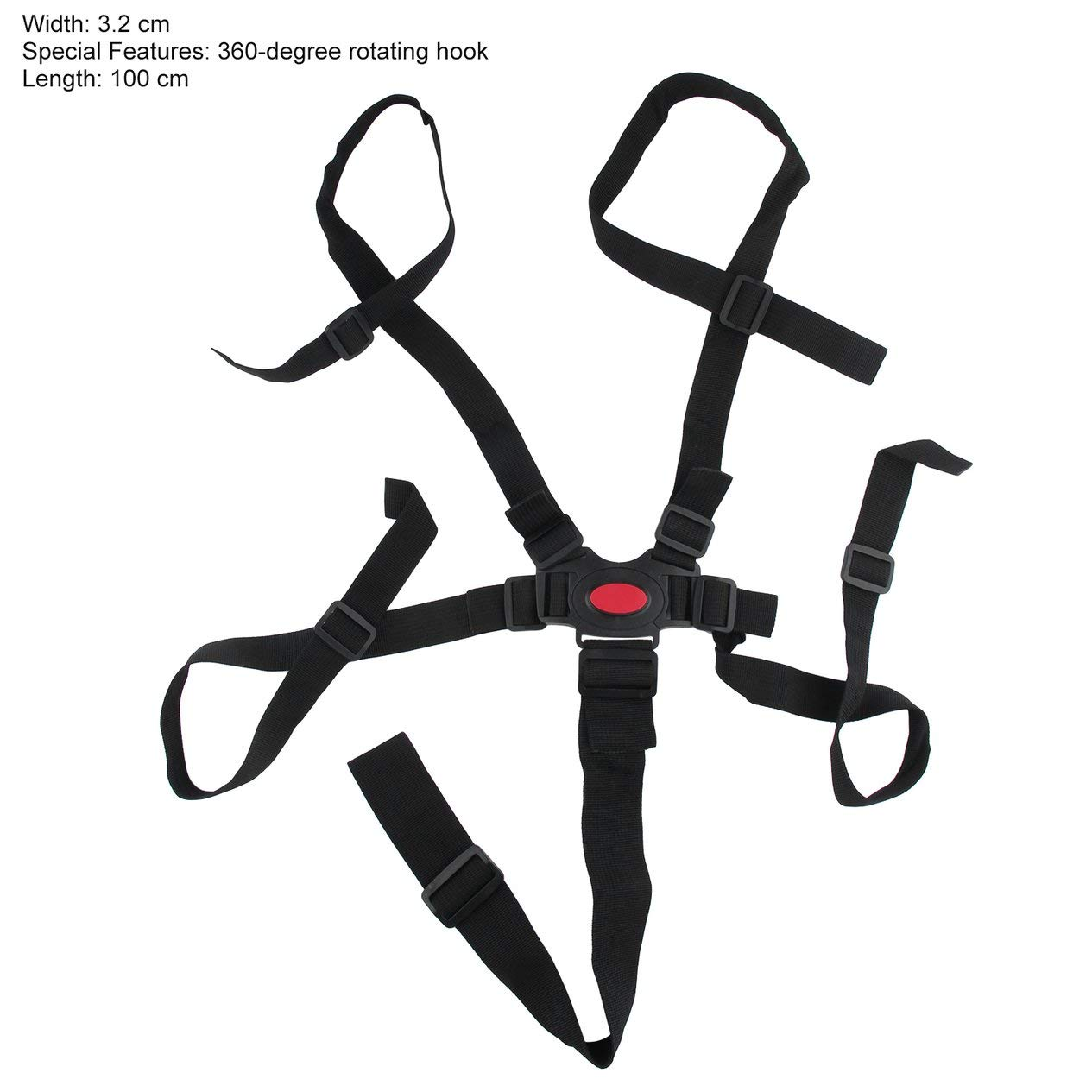 EdBerk74 Beb/é Universal Arn/és de 5 puntos Cintur/ón de seguridad Silla de beb/é Cintur/ón de seguridad Silla de comedor de alta calidad Vendaje Cintur/ón de seguridad