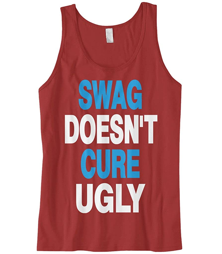 Cybertela Mens Swag Doesnt Cure Ugly Tank Top