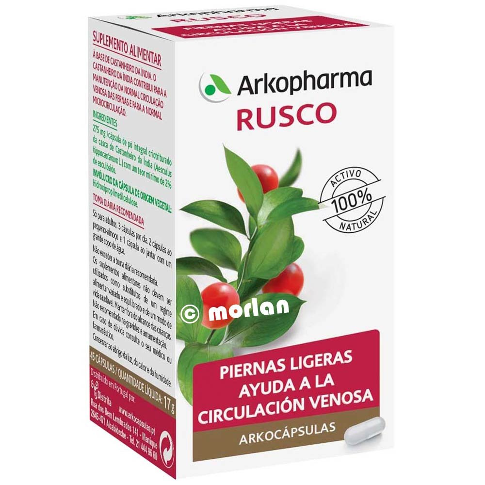 Cápsulas dietéticas Rusco Arkopharma