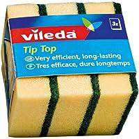 Vileda 4003790023996 Tip Top Sponge - 3 pcs