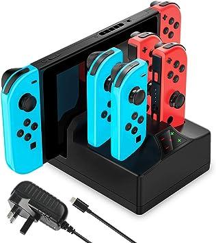 YCCTEAM Cargador para Nintendo Switch, estación de carga 5 en 1 ...