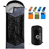 oaskys Camping Sleeping Bag - 3 Season Warm & Cool Weather - Summer, Spring, Fall, Lightweight, Waterproof for Adults & Kids