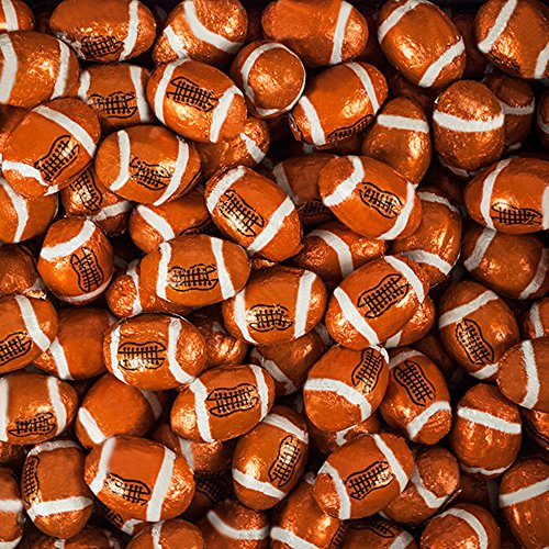 Bulk Chocolate Football Foil Wrapped Madelaine Candy (10lb) (Foil Chocolate Footballs)