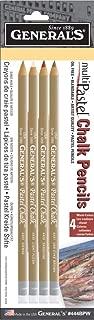 product image for General Pencil MultiPastel Chalk Pencils: Cedar Wood, Assorted Colors, 4 Pieces (GEN444BPB)