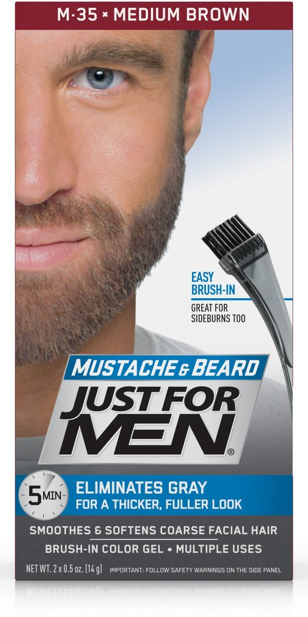 Just For Men Mustache & Beard Brush-In Color Gel, Medium Brown (Pack of 3) by Just for Men (Image #3)