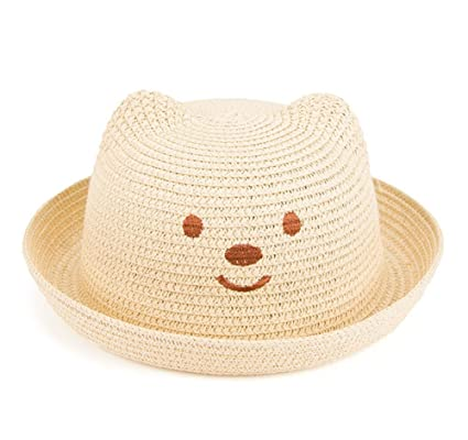 6dc6d1878c67 WeiMay Chapeau de Paille enfants enfants Plage Soleil Chapeau été Voyage  Protection du Soleil Lovely Bear