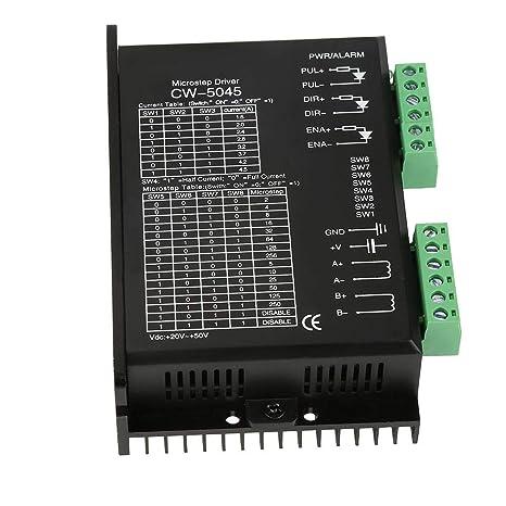 Driver, 1pc Motor paso a paso Microstep Driver CW-5045 4.5A 24V-50VDC para motores híbridos CNC: Amazon.es: Industria, empresas y ciencia