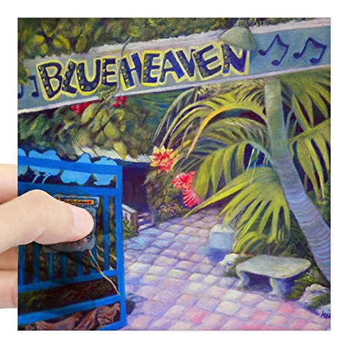 Heaven Framed (CafePress - Blue Heaven New View Framed Square Sticker 3