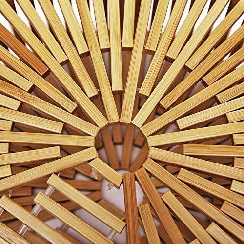 shunlidas Nuovo Sacchetto di bambù Portatile in Tessuto Borsa da Spiaggia in bambù Creativo ins Super Vuoto Rattan svuota Borsa Scava Fuori